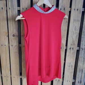 Head-turning red BLING top  NWT
